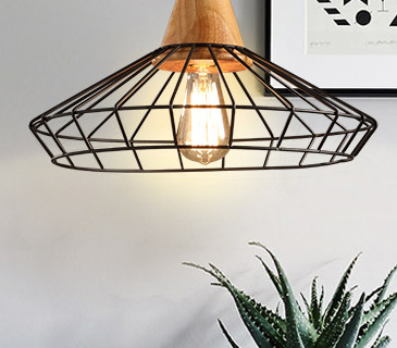 Northern Europe creative LED pendant light for bedroom